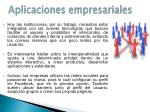 aplicaciones empresariales