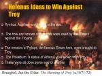 helenus ideas to win against troy