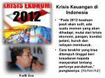 krisis keuangan di indonesia