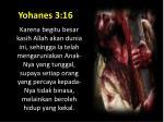 yohanes 3 16