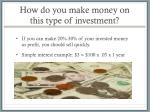 how do you make money on this type of investment