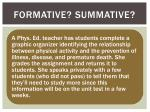 formative summative