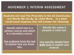 november 1 interim assessment