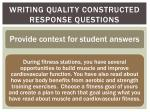 writing quality constructed response questions