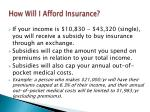how will i afford insurance