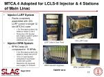 mtca 4 adopted for lcls ii injector 4 stations of main linac