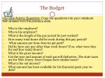 the budget2