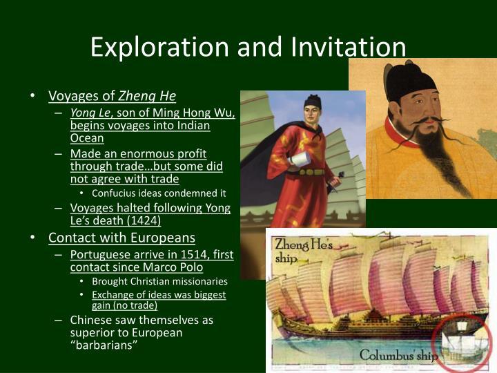 Exploration and Invitation