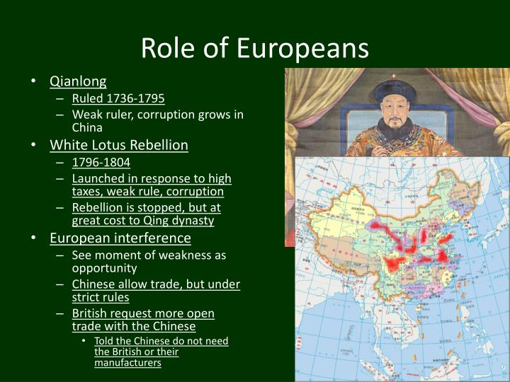 Role of Europeans