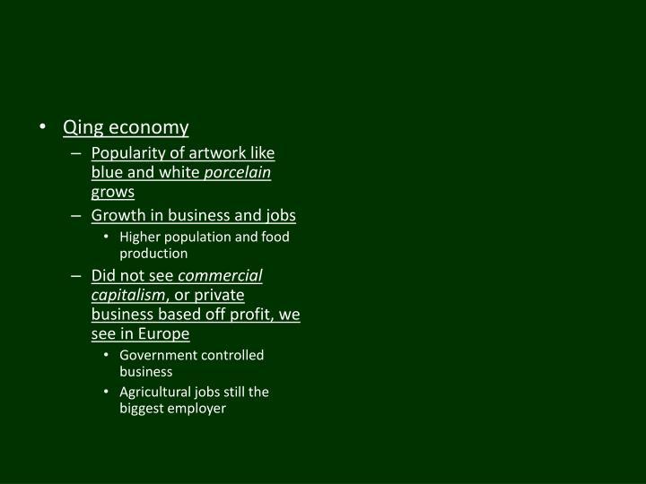 Qing economy