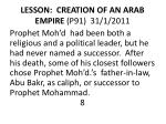lesson creation of an arab empire p91 31 1 2011