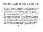 the brilliance of islamic culture