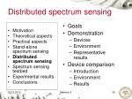 distributed spectrum sensing1