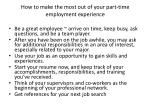 how to make the most out of your part time employment experience