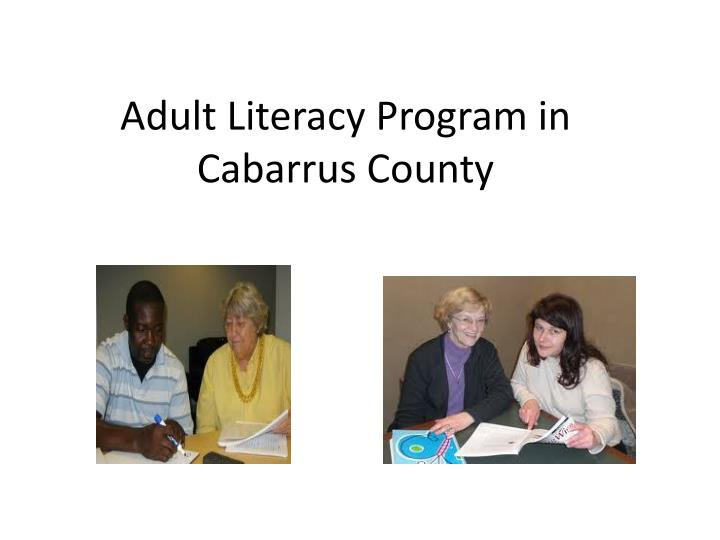 adult literacy program in cabarrus county n.