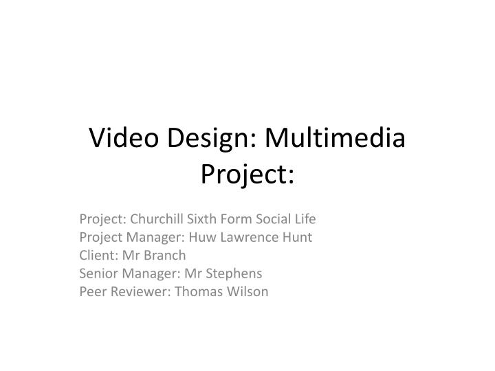 video design multimedia project n.