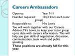 careers ambassadors