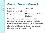 charity student council