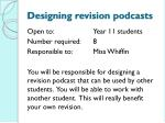 designing revision podcasts