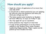 how should you apply