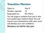 transition mentors