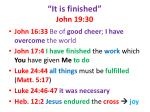 it is finished john 19 30