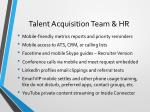 talent acquisition team hr
