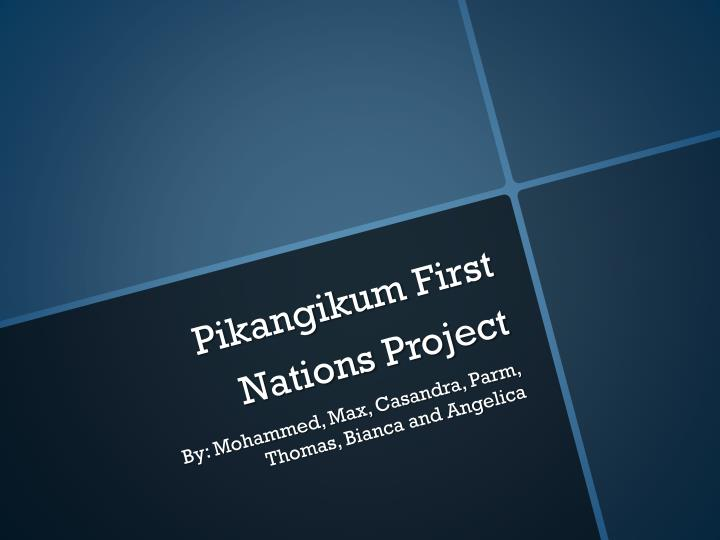 PPT - Pikangikum First Nations Project PowerPoint