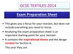 exam preparation sheet