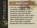 matius 6 24