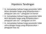 hipotesis tandingan