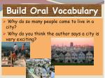 build oral vocabulary