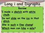 long i and digraphs
