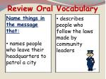 review oral vocabulary