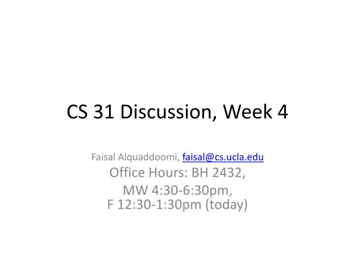 cs 31 discussion week 4 n.