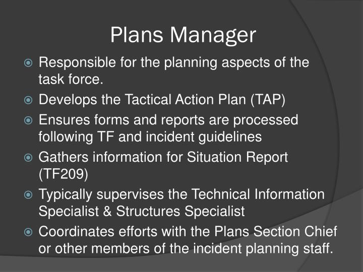 Plans Manager