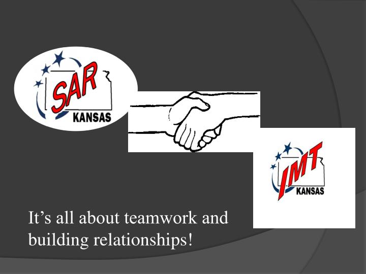 It's all about teamwork and building relationships!