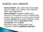 analisis non statistik