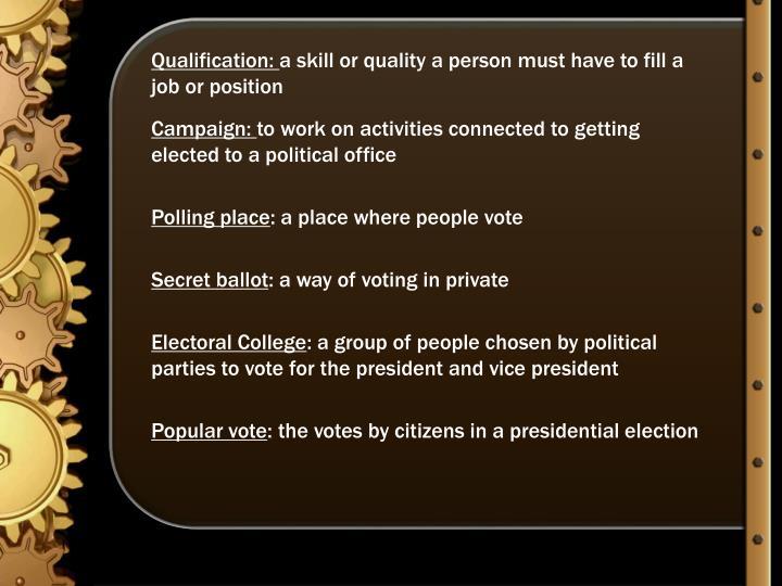 Qualification: