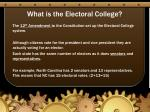 what is the electoral college