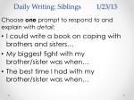 daily writing siblings 1 23 13
