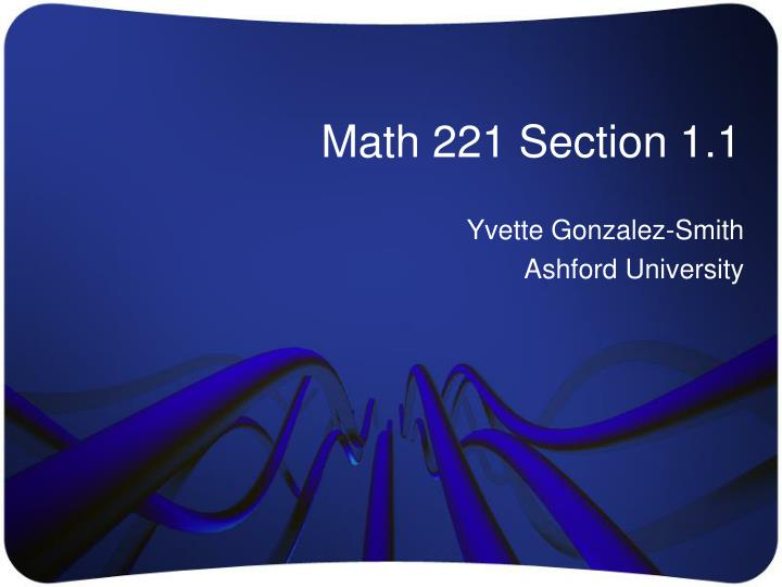 math 221 section 1 1 n.