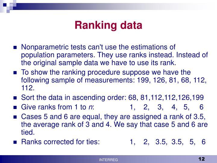 Ranking data