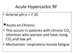acute hypercarbic rf
