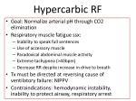 hypercarbic rf1