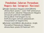 penubuhan jabatan perpaduan negara dan integrasi nasional