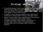 strategi ekonomi