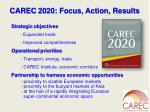 carec 2020 focus action results