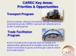 carec key areas priorities opportunities