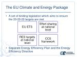 the eu climate and energy p ackage